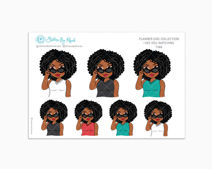 Tina - I See You Watching -  Limited Edition - Planner Girl Collection