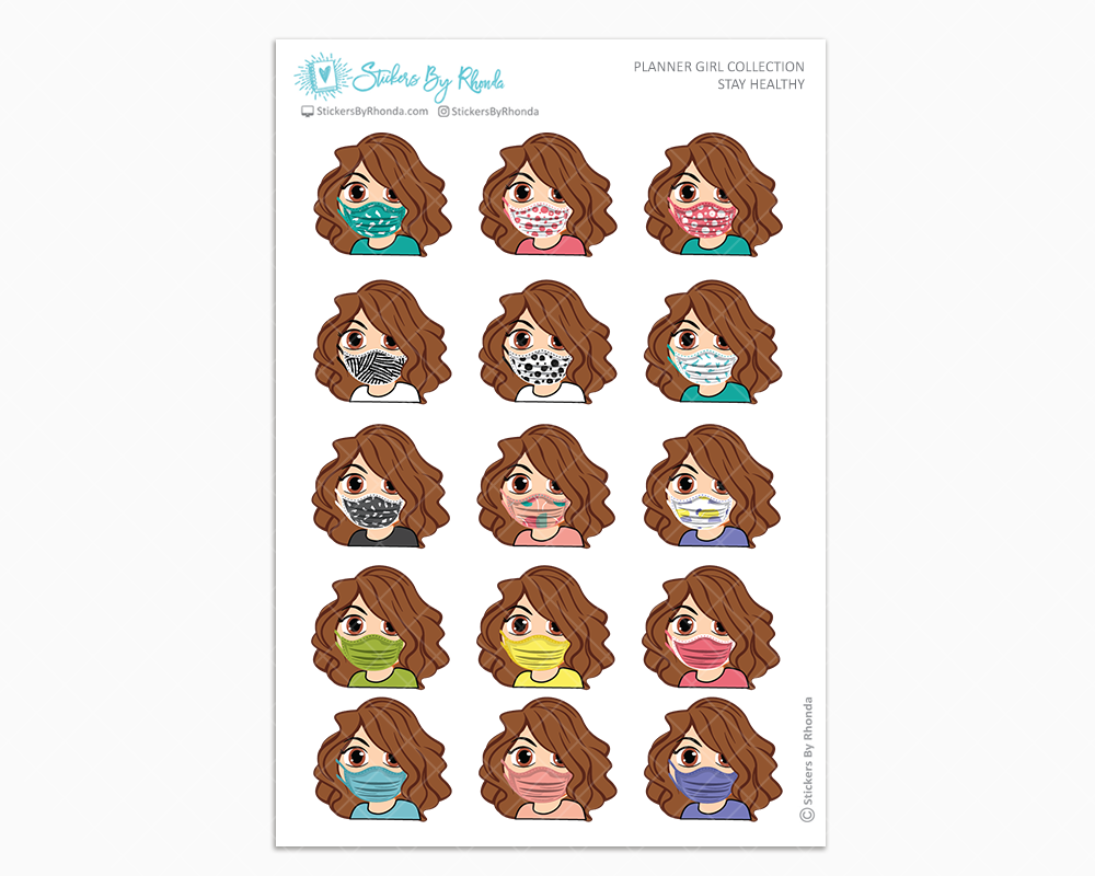 Amanda - Stay Healthy - Planner Girl Stickers