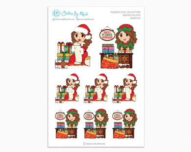 Amanda - Santa's Helper Sampler - Christmas Stickers - Holiday Stickers