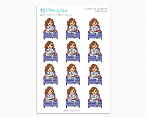 Amanda - Reading Time - Planner Girl Collection - Planner Stickers