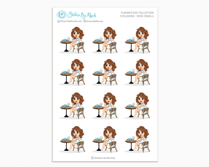 Amanda - Chillaxing - Wine (Small) - Planner Girl Collection
