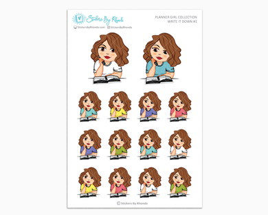 Amanda - Write It Down #1 - Planner Girl Collection - Planner Stickers