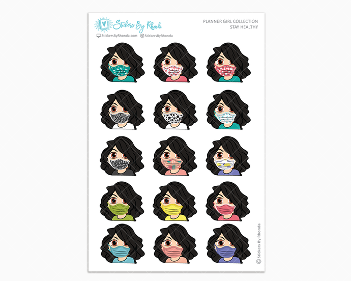 Crystal -  Stay Healthy - Planner Girl Stickers
