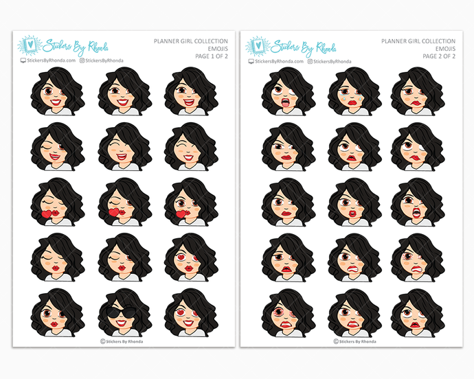 Crystal - Planner Girl Emojis - Emotion Stickers - Planner Girl Collection