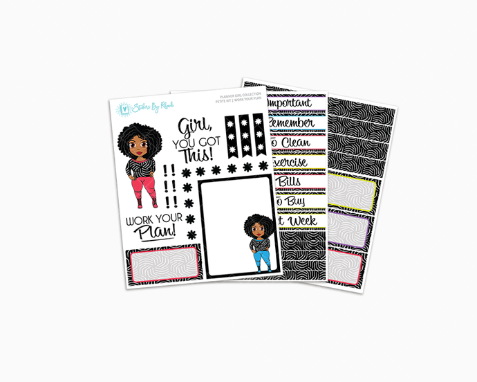 Ebony - Work Your Plan Petite Kit - Planner Girl Collection