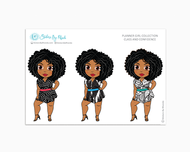 Ebony - Class & Confidence - Limited Edition - Planner Girl Collection - Planner Stickers