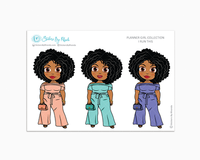 Ebony -  I Run This - Limited Edition - Planner Girl Collection