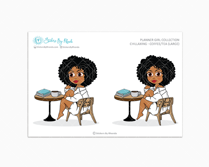 Ebony - Chillaxing - Coffee/Tea (Large) - Limited Edition - Planner Girl Collection