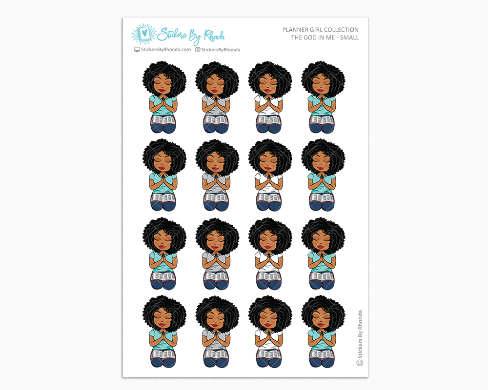 Ebony - The God In Me - Planner Girl Stickers