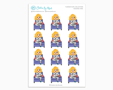 Emma - Reading Time - Planner Girl Collection - Planner Stickers