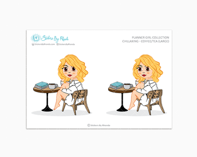 Emma With Brown Eyes - Chillaxing - Coffee/Tea (Large) - Limited Edition - Planner Girl Collection