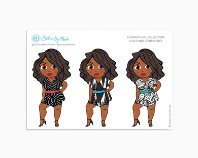 Jackie - Class & Confidence - Limited Edition - Planner Girl Collection - Planner Stickers