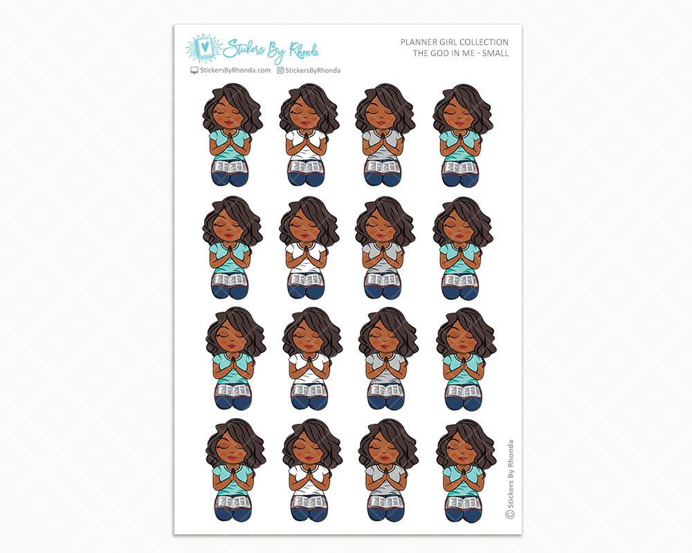 Jackie - The God In Me - Planner Girl Stickers
