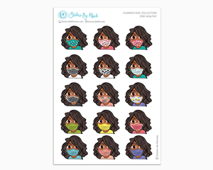Jackie -  Stay Healthy - Planner Girl Stickers