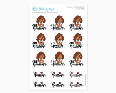 Mia - Be Yourself - Planner Girl Collection - Encouragement Stickers - Planner Stickers
