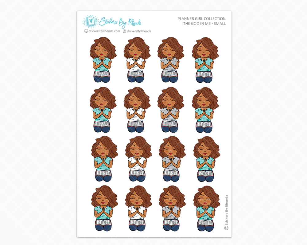 Mia - The God In Me - Planner Girl Stickers