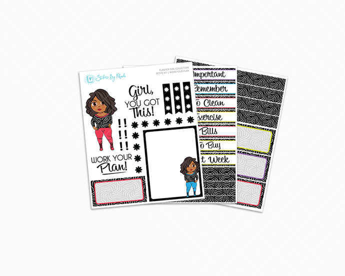 Tanya - Work Your Plan Petite Kit - Planner Girl Collection