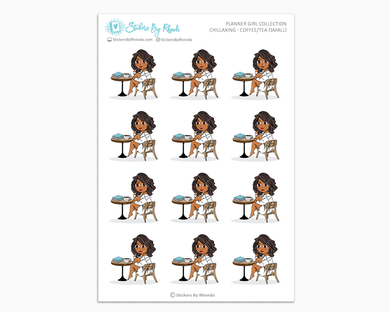 Tanya - Chillaxing - Coffee/Tea (Small) - Planner Girl Collection