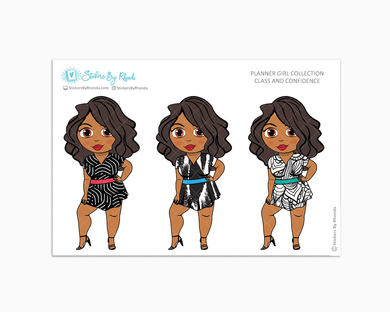 Tanya - Class & Confidence - Limited Edition - Planner Girl Collection - Planner Stickers