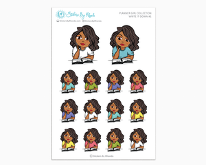 Tanya - Write It Down #1 - Planner Girl Collection - Planner Stickers