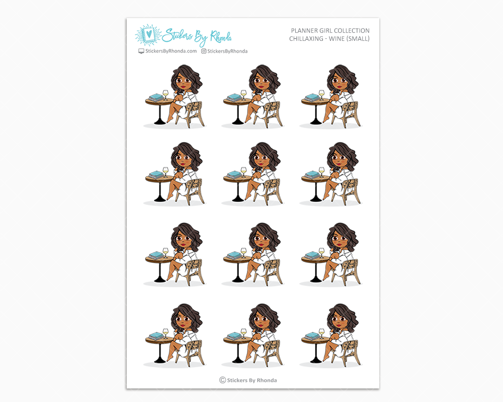 Tanya - Chillaxing - Wine (Small) - Planner Girl Collection