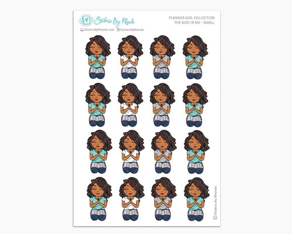 Tanya - The God In Me - Planner Girl Stickers
