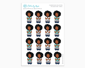 Tina - The God In Me - Planner Girl Stickers