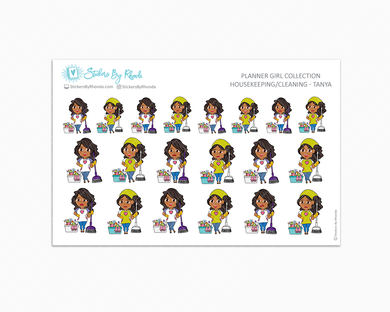 Housekeeping/Cleaning Planner Stickers - Tanya