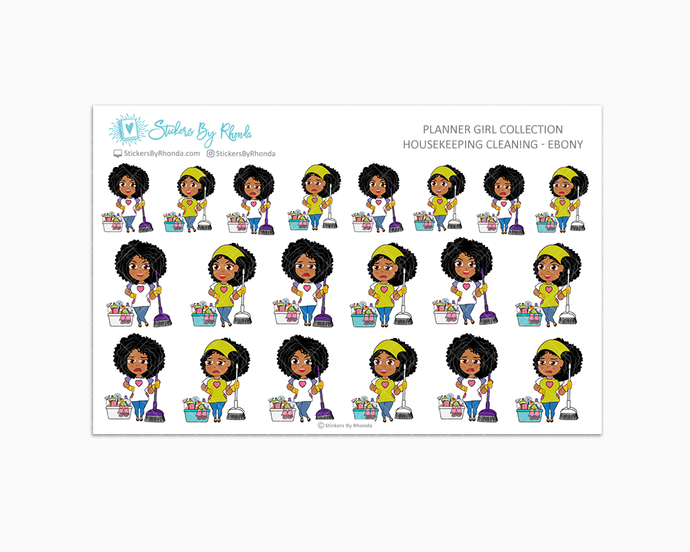 Housekeeping/Cleaning Planner Stickers - Ebony