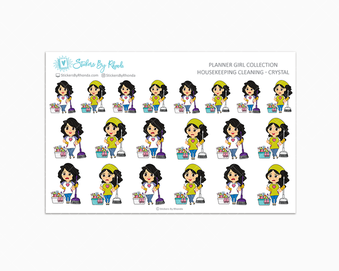 Housekeeping/Cleaning Planner Stickers - Crystal