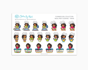 Meal Prep/Cooking Planner Stickers - Tanya