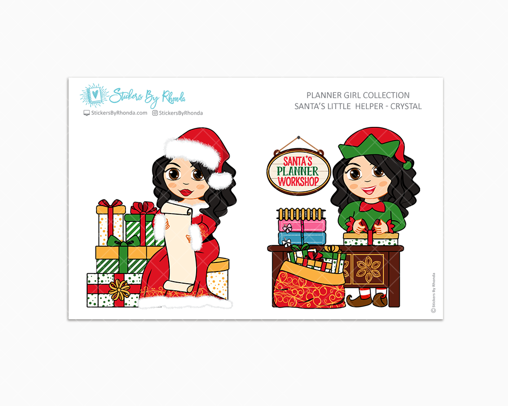 Crystal - Santa's Little Helper - Planner Girl Collection - Limited Edition - Christmas Stickers