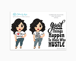 Crystal - Love The Hustle - Limited Edition - Planner Girl Stickers