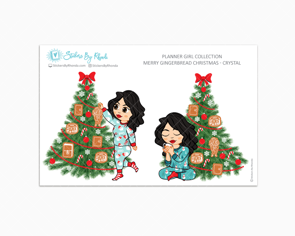 Crystal - Merry Gingerbread Christmas - Planner Girl Collection - Limited Edition - Christmas Stickers