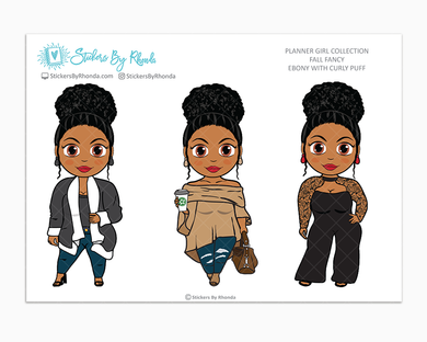 Ebony With Curly Puff -  Limited Edition - Fall Fancy - Planner Girl Collection