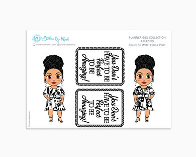 Jennifer With Curly Puff - Amazing -  Limited Edition - Planner Girl Collection