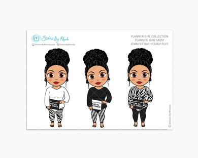 Jennifer With Curly Puff -  Limited Edition - Planner Girl Sassy - Planner Girl Collection