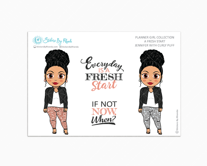 Jennifer With Curly Puff - Limited Edition - A Fresh Start - Planner Girl Collection