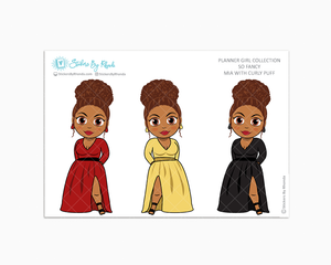 Mia With Curly Puff -  Limited Edition - So Fancy  - Planner Girl Collection