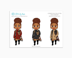Mia With Curly Puff -  Limited Edition - Cozy Comfort - Planner Girl Collection