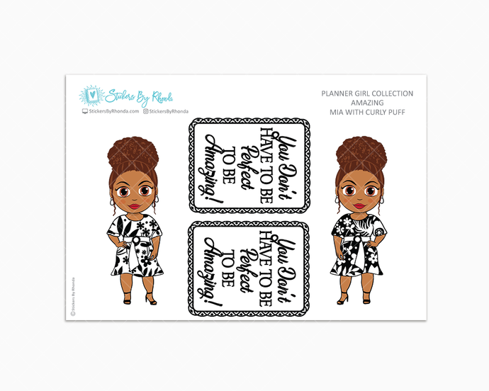 Mia With Curly Puff - Amazing -  Limited Edition - Planner Girl Collection