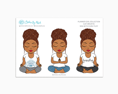 Mia With Curly Puff - Just Breathe - Planner Girl Collection -  Limited Edition