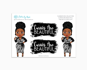 Tina With Curly Puff -  Limited Edition - Curves Are Beautiful - Planner Girl Collection