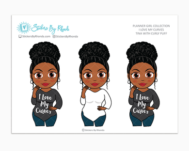 Tina With Curly Puff - I Love My Curves - Limited Edition - Planner Girl Collection
