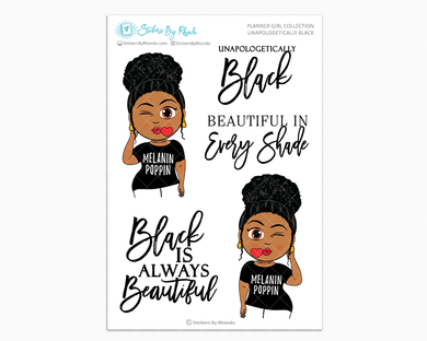 Ebony With Curly Puff  - Unapologetically Black- Limited Edition - Planner Girl Collection