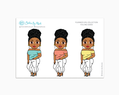 Ebony With Curly Puff -  Feeling Good - Limited Edition - Planner Girl Collection