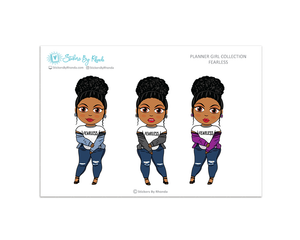 Ebony With Curly Puff - Fearless - Limited Edition - Planner Girl Collection