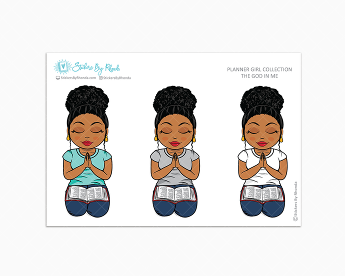 Ebony with Curly Puff - The God In Me (Large) -  Limited Edition - Planner Girl Collection