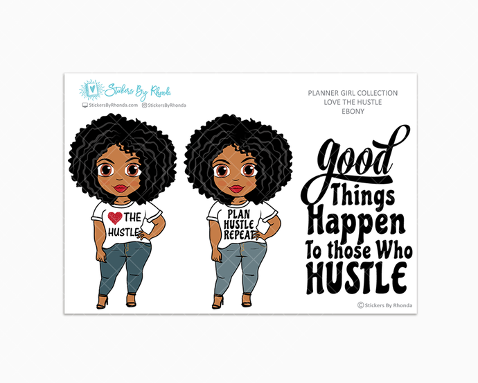 Ebony - Love The Hustle - Limited Edition - Planner Girl Stickers