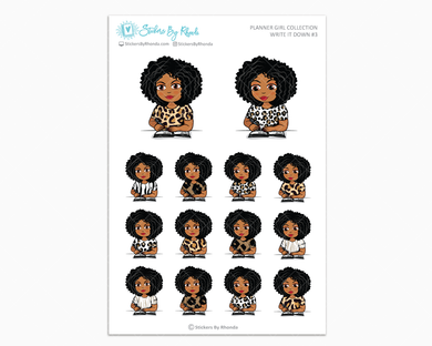 Ebony - Write It Down #3 - Planner Girl Collection - Planner Stickers